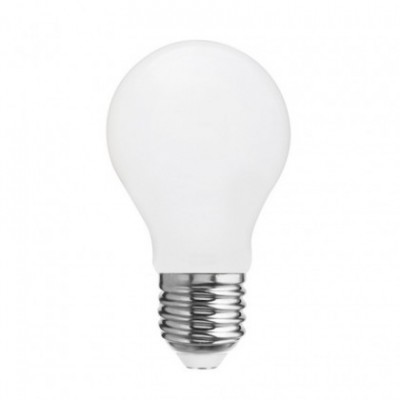 LED Milky White Light Bulb - Drop A60 - 7,5W E27 Dimmable 2700K