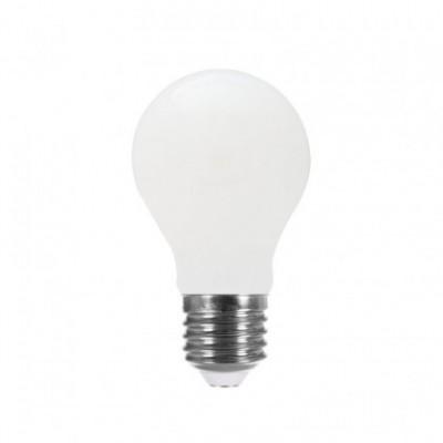LED Light Bulb Drop A60 Milky 8W E27 2700K