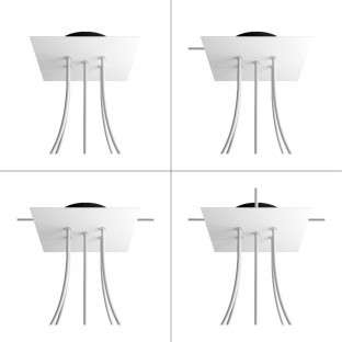 Square Rose-One 5-hole and 4 side holes ceiling rose, 200 mm