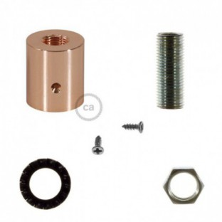 Copper metal cable terminal for 16 mm Creative-Tube, accessories included