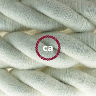 2XL electrical cord, electrical cable 3x0,75. Raw cotton fabric covering. Diameter 24mm.