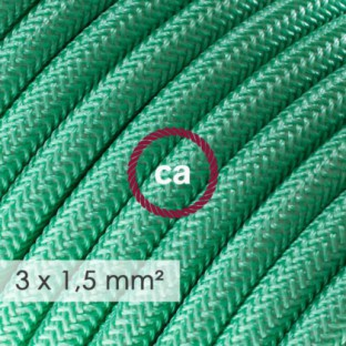 Large section electric cable 3x1,50 round - covered by rayon Opal RH69