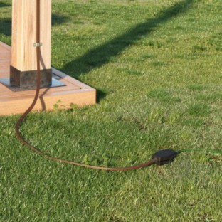 Junction box for string lights with adaptors for round and flat cables