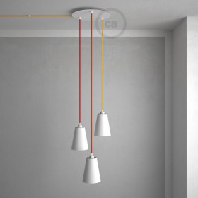 Create even more unique lamps with our new XXL ceiling roses!
