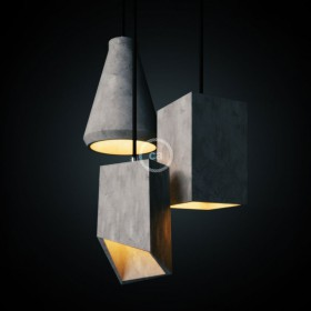 Here they are Creative-Cables' new cement lamp shades.