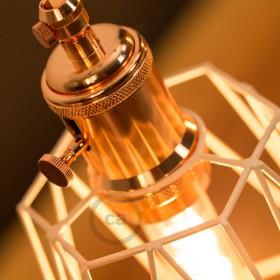 New vintage copper lamp holders