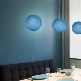 Handmade lampshades in polyester fibre