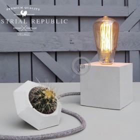 "Marko Lovenjak for Indutrial Republic: Concrete Lamp ""The Cube"""