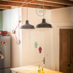 Pascal Flamant: pulley for kitchen lighting